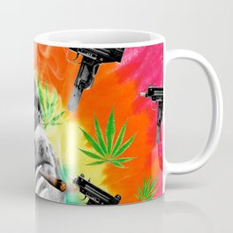sloth gangsta gangster Dope Weed Coffee Mug