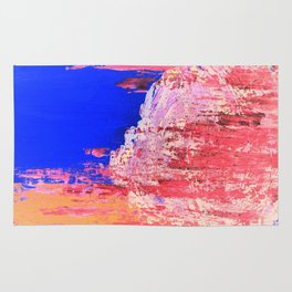 Into the Mist Pantone Color of the Year 2016 Abstract Rug