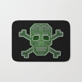Hacker Skull Crossbones (isolated version) Bath Mat
