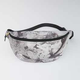 Sour Cherry Tree Black And White Fanny Pack