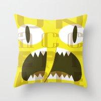 lemongrab Throw Pillows featuring Lemongrab Typography by Aaron Bowersock