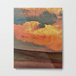 Sunset Over Saskatchewan Foothills Metal Print