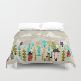 my happy mountains Duvet Cover