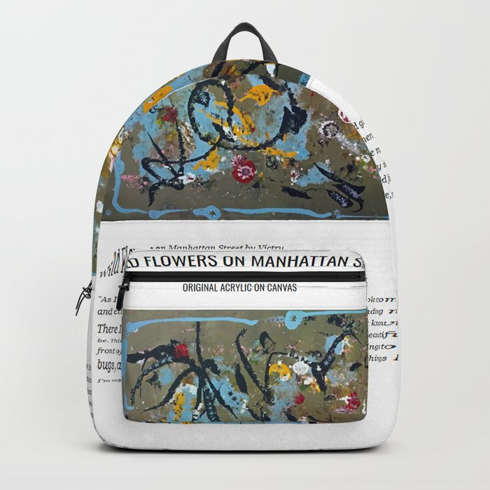 Wild Flowers On Manhattan Street Backpack