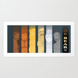 THE BEARS Art Print