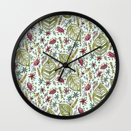 Tropical Rainforest pattern Wall Clock