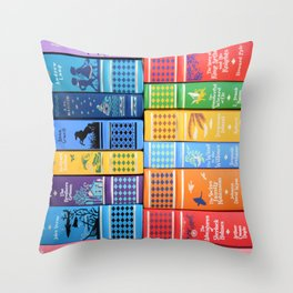 Leather Bound Classic Series - Part 1 Throw Pillow