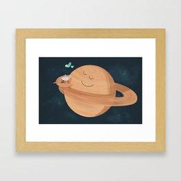 Best Hug Ever: Cassini's Grand Finale Framed Art Print