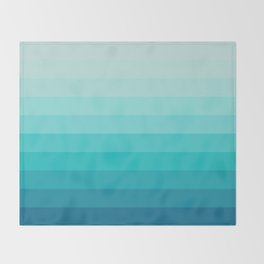 TURQUOISE GRADIENT Throw Blanket