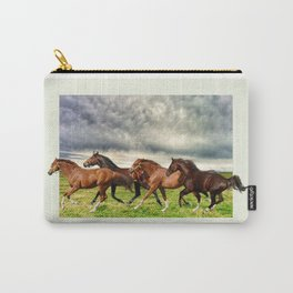 Horses in the Field Carry-All Pouch