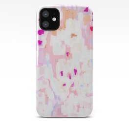 Netta - abstract painting pink pastel bright happy modern home office dorm college decor iPhone Case