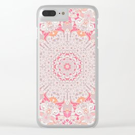 BOHO SUMMER JOURNEY MANDALA - PASTEL ROSE PINK Clear iPhone Case