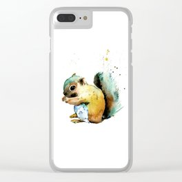 Squirrel - Nuts Clear iPhone Case