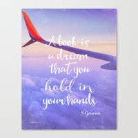 neil gaiman Canvas Prints featuring Neil Gaiman, quotes, flight by Good vibes and coffee