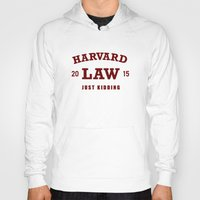 law Hoodies featuring HARVARD LAW by chankaieng