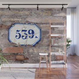 Number 539 on brick wall Wall Mural