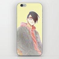 sasuke iPhone & iPod Skins featuring Undercut Sasuke by Dymx