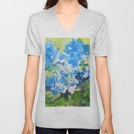 Blue Hydrangeas Unisex V-Neck