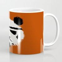 panda Mugs featuring Panda Trooper by Danny Haas