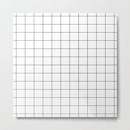 Oh My Grid Metal Print