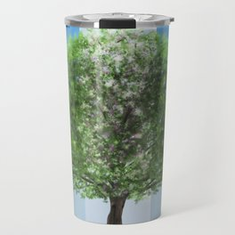 Digital painting of the seasons of the year in a tree Travel Mug