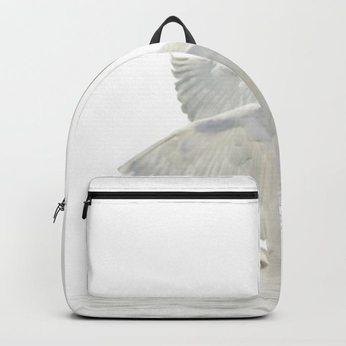 WHITE ON WHITE-BEAUTIFUL SWAN Backpack