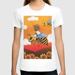 tryler flower boy driver bee T-shirt