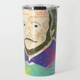Portrait of William Shakespeare-Hand drawn Travel Mug