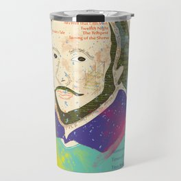 Portrait of William Shakespeare-Hand drawn Travel Mug