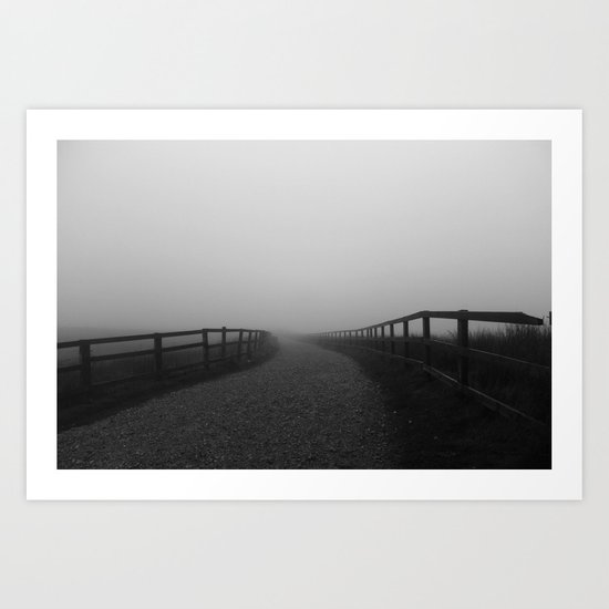 Withens Mist Art Print