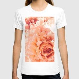 Peach Pink Peony Bunch T-shirt