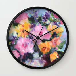 Rose Cotillion Wall Clock