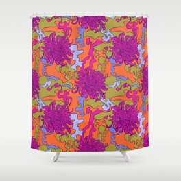 Japan chrysanthemum flower Shower Curtain