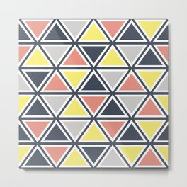 Colorful triangles decoration Metal Print