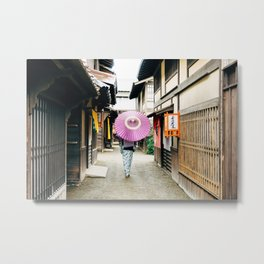 Geisha in Japan. Kyoto Metal Print