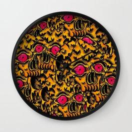 Skull Melting Wall Clock