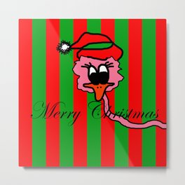 Christmas Pink Duck | The Duck that he thought it was swans Metal Print