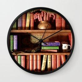 Santa's Bookshelf Wall Clock