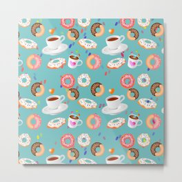 Coffee and Doughnuts Metal Print