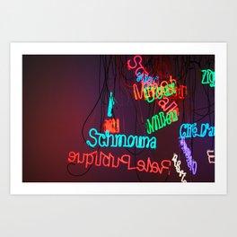 Neons in Paris Art Print