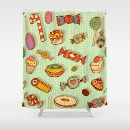 candy and pastries Shower Curtain