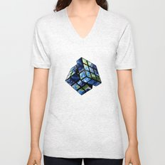 rubik's earth Unisex V-Neck
