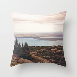 Wild and Free x Sunset over Acadia Throw Pillow