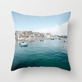 St Ives bay Throw Pillow