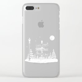 Classic Christmas Towns Clear iPhone Case