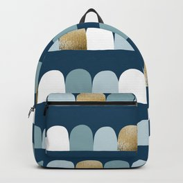 Abstract modern seamless pattern with realistic gold foil Backpack