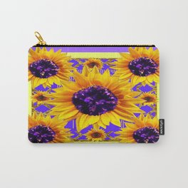 Lilac Purple Patterns Yellow Sunflowers Fantasy Art Carry-All Pouch