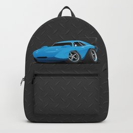Classic American Winged Muscle Car Cartoon Backpack