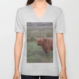 Heilan coo - Highlands cow Unisex V-Neck
