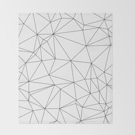 Black and White Geometric Minimalist Pattern Throw Blanket